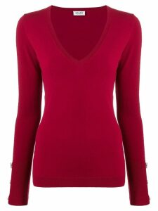 LIU JO V-neck knitted top - Red