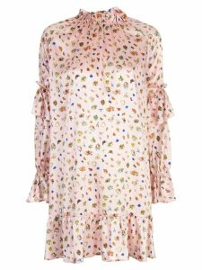 Cynthia Rowley penny ruffle sleeve dress - PINK
