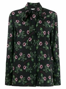 Valentino bow detail floral shirt - Black