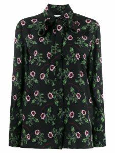 Valentino bow detail floral shirt - Black
