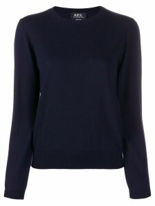 A.P.C. fine knit jumper - Blue