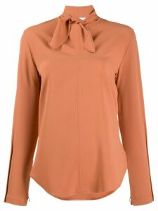 See By Chloé bow v-neck blouse - Brown
