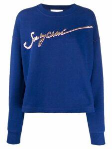 See By Chloé logo print sweatshirt - Blue