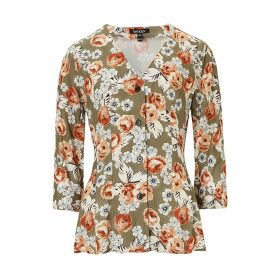 Baukjen - Rosemary Blouse In Khaki & Rose Bloom