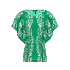 Nissa - Viscose Leaves Print Top
