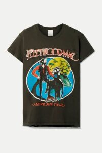 MadeWorn - Fleetwood Mac Printed Distressed Cotton-jersey T-shirt - Charcoal