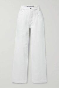 REDValentino - Grosgrain-trimmed Ruffled Crepe Mini Dress - IT42