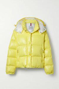 Vince - Paneled Pleated Crepe And Crinkled-satin Midi Skirt - Petrol