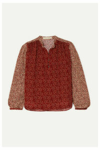 Vanessa Bruno - Mederic Paneled Floral-print Poplin Blouse - Red