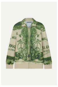 Moschino - Printed Satin-jersey Track Jacket - Green