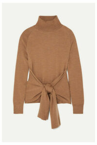 JW Anderson - Tie-front Wool Turtleneck Sweater - Camel