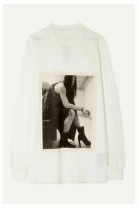 Rick Owens - Larry Minerva Printed Cotton-jersey Top - Cream