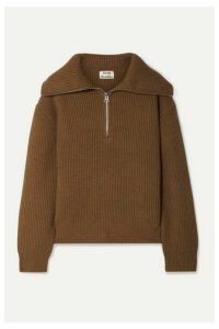 Acne Studios - Kelanie Ribbed Wool-blend Sweater - Brown