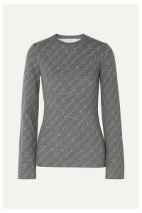 Stella McCartney - Intarsia Wool-blend Sweater - Gray