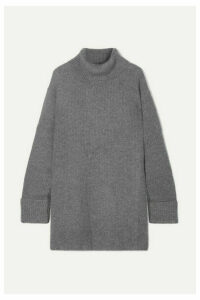 Le Kasha - Arles Ribbed Cashmere Turtleneck Sweater - Light gray