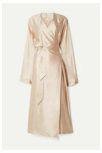 La Collection - Eleni Belted Silk-satin Wrap Dress - Pink