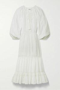 Veronica Beard - Honolulu Satin-jacquard Skinny Pants - Black