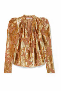 Ulla Johnson - Camilla Devoré-chiffon Blouse - Metallic