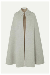 JW Anderson - Wool And Cashmere-blend Cape - Light gray