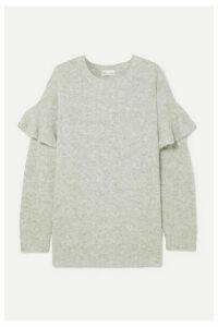 REDValentino - Ruffled Knitted Sweater - Gray