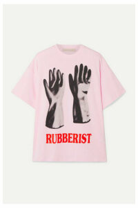 Christopher Kane - Printed Cotton-jersey T-shirt - Pink