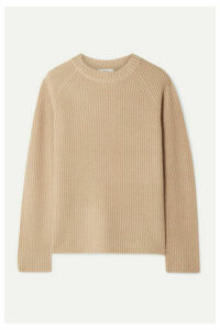 Vince - Shaker Ribbed Cashmere Sweater - Beige