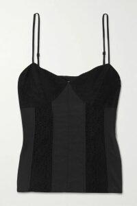 Marchesa Notte - Appliquéd Pleated Floral-print Chiffon Gown - Merlot