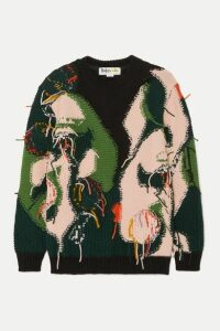 Stella McCartney - + The Beatles Intarsia Wool Sweater - Navy