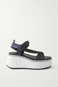 Nili Lotan - Acadia Zebra-print Silk-chiffon Blouse - Black