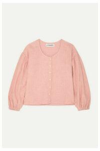 L.F.Markey - Fletcher Linen Blouse - Pink