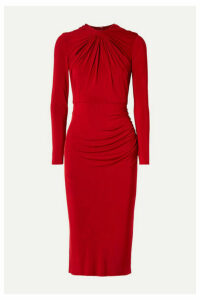 Jason Wu Collection - Twist-front Stretch-jersey Midi Dress - Red