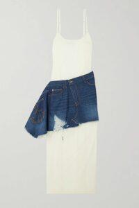 SAINT LAURENT - Double-breasted Faux Fur Jacket - Black