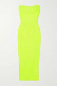 Envelope1976 - Istanbul Belted Gathered Charmeuse Maxi Dress - Black