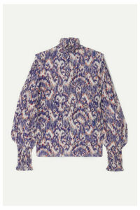 Isabel Marant Étoile - Yoshi Printed Silk Crepe De Chine Blouse - Purple
