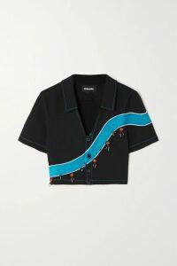 Envelope1976 - San Diego Washed-satin Wrap Mini Dress - Black