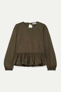 Molly Goddard - Wilfred Cotton-twill Peplum Top - Green
