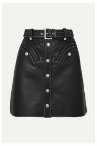 Maje - Janaille Belted Leather Mini Skirt - Black
