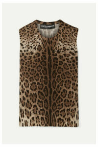 Dolce & Gabbana - Leopard-print Wool Top - Brown