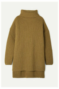 Joseph - Oversized Ribbed Merino Wool Turtleneck Sweater - Light brown