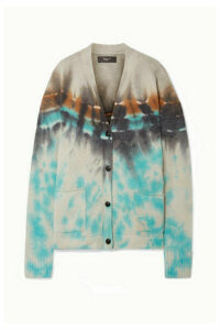AMIRI - Oversized Tie-dyed Cashmere And Wool-blend Cardigan - Cream