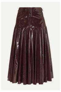 palmer//harding - Fused Fluted Vinyl Midi Skirt - Burgundy