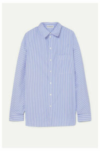 Balenciaga - Oversized Striped Cotton-poplin Shirt - Blue