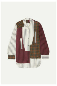 Loewe - Oversized Asymmetric Patchwork Printed Voile Shirt - Multi