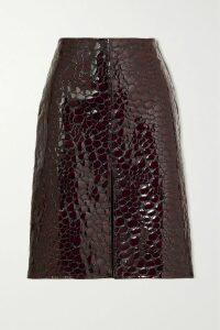 Talbot Runhof - Mikado Pleated Metallic Cloqué And Organza Midi Dress - Blue