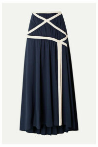 Rosie Assoulin - Criss Cross Applesauce Cotton-crepe Maxi Skirt - Navy