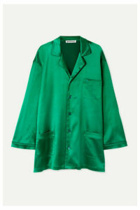 Balenciaga - Oversized Satin Shirt - Emerald