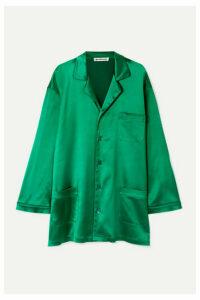 Balenciaga - Oversized Satin Shirt - Emerald