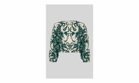 Vivian Baroque Print Silk Top