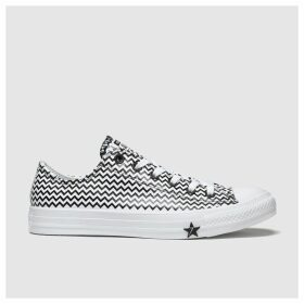 Converse White & Black All Star Vltg Ox Trainers