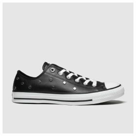 Converse Black & Silver All Star Stud Ox Trainers